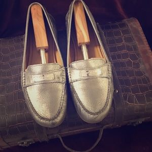 Coach Silver Loafer Sz 11